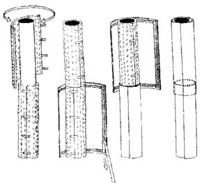 cushioned pole safety cover lolly wrap installation diagram