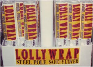 lolly wrap Basement Pole Covers / Padded Covers